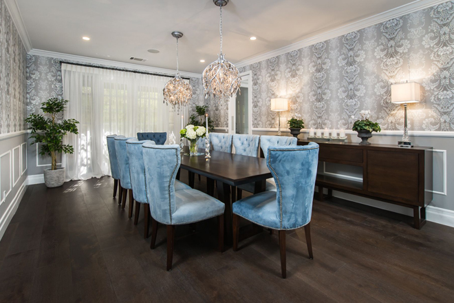 Calabasas Dining Room by Eve Mode Design