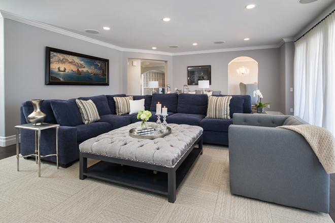 Calabasas Family Room 2 by Eve Mode Design