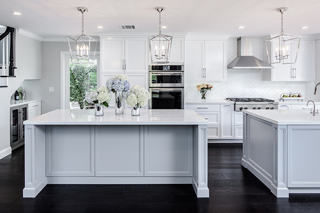 EveModeDesignCalabasas Kitchen Islands with Stairs